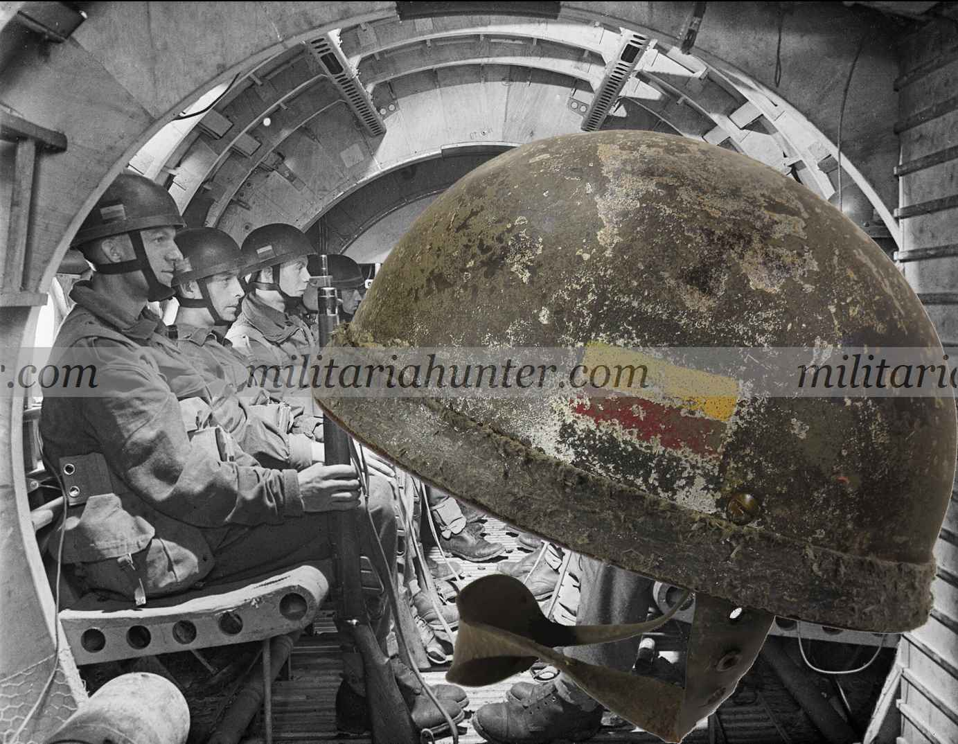 militaria : SOLD - ww2 british HSAT MkI Ox and Bucks glider infantry helmet
