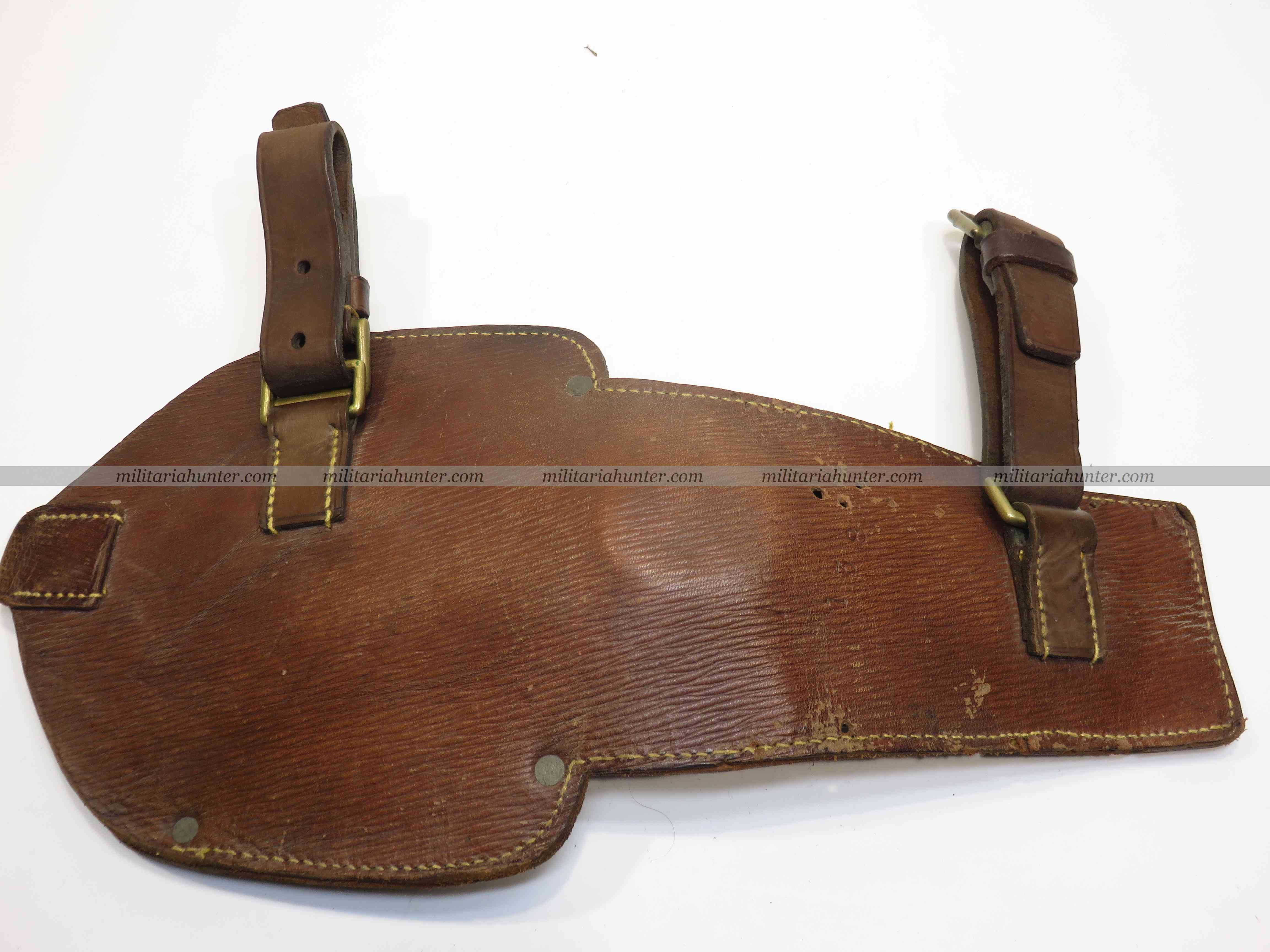 militaria : Scarce british leather entrenching tool carrier, TF 1914