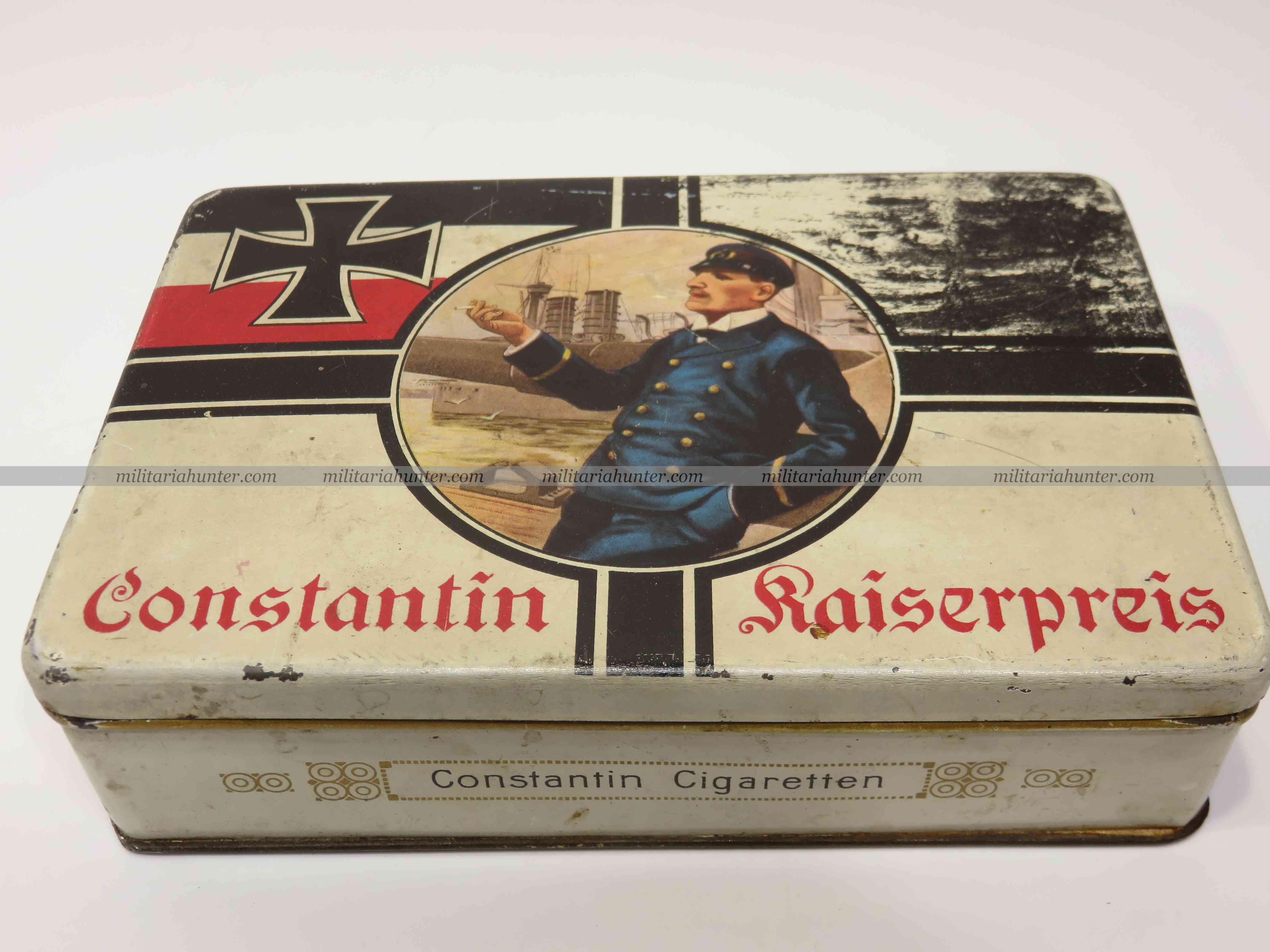 militaria : ww1 german CONSTANTIN cigarettes box - boîte de cigarettes Constantion