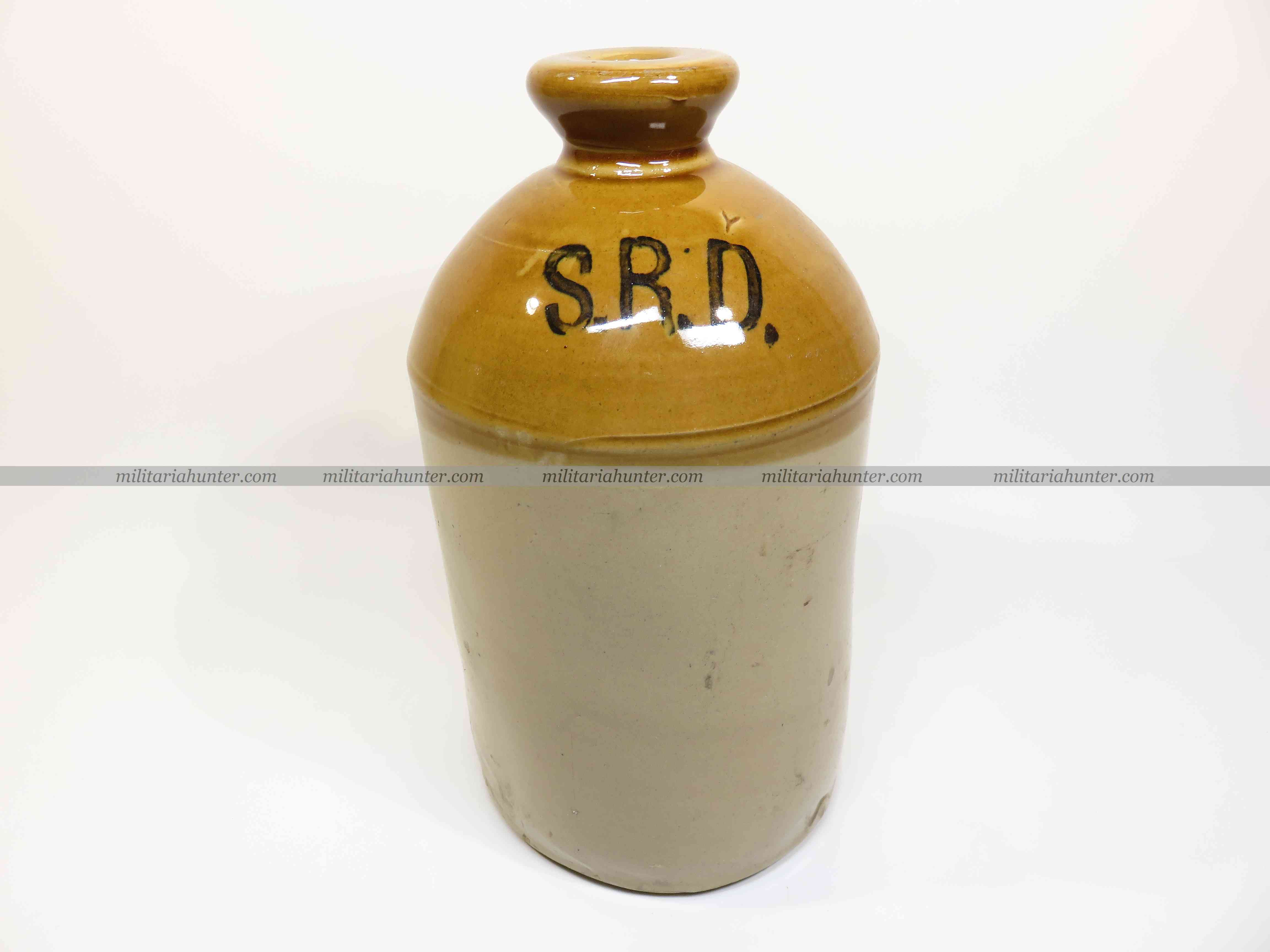militaria : ww1 ww2 british SRD small size jar