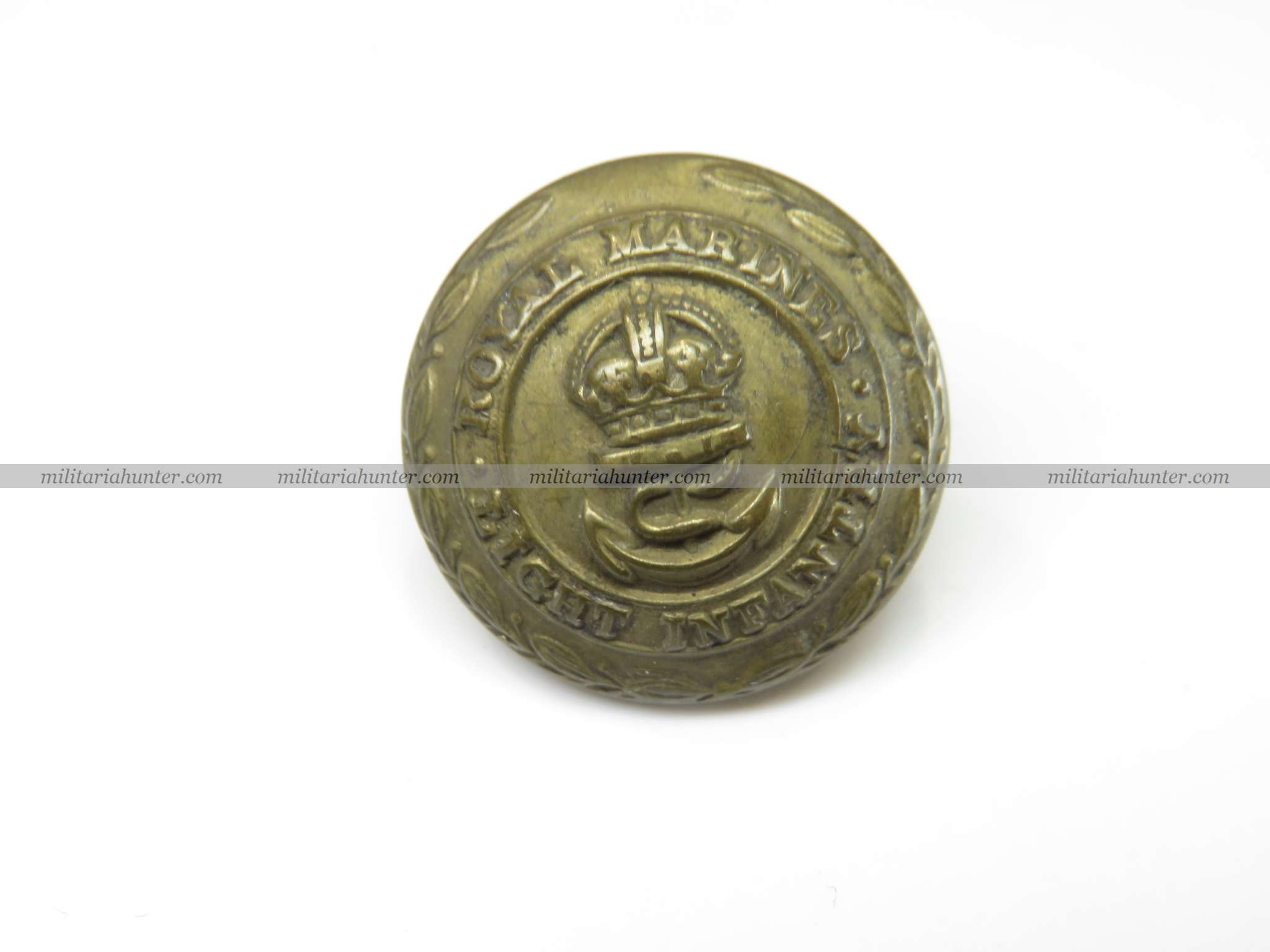 militaria : ww1 Royal Marines Light Infantry button