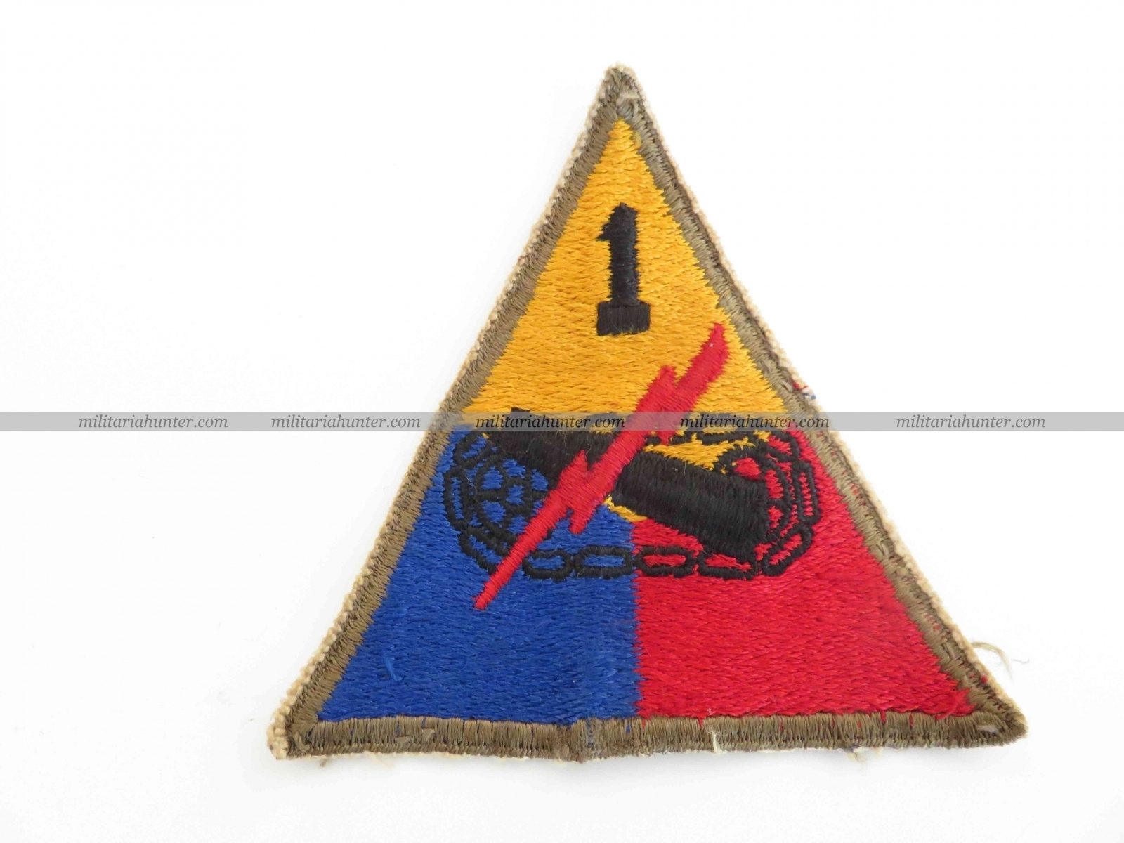 militaria : Original ww2 1st Armoured patch