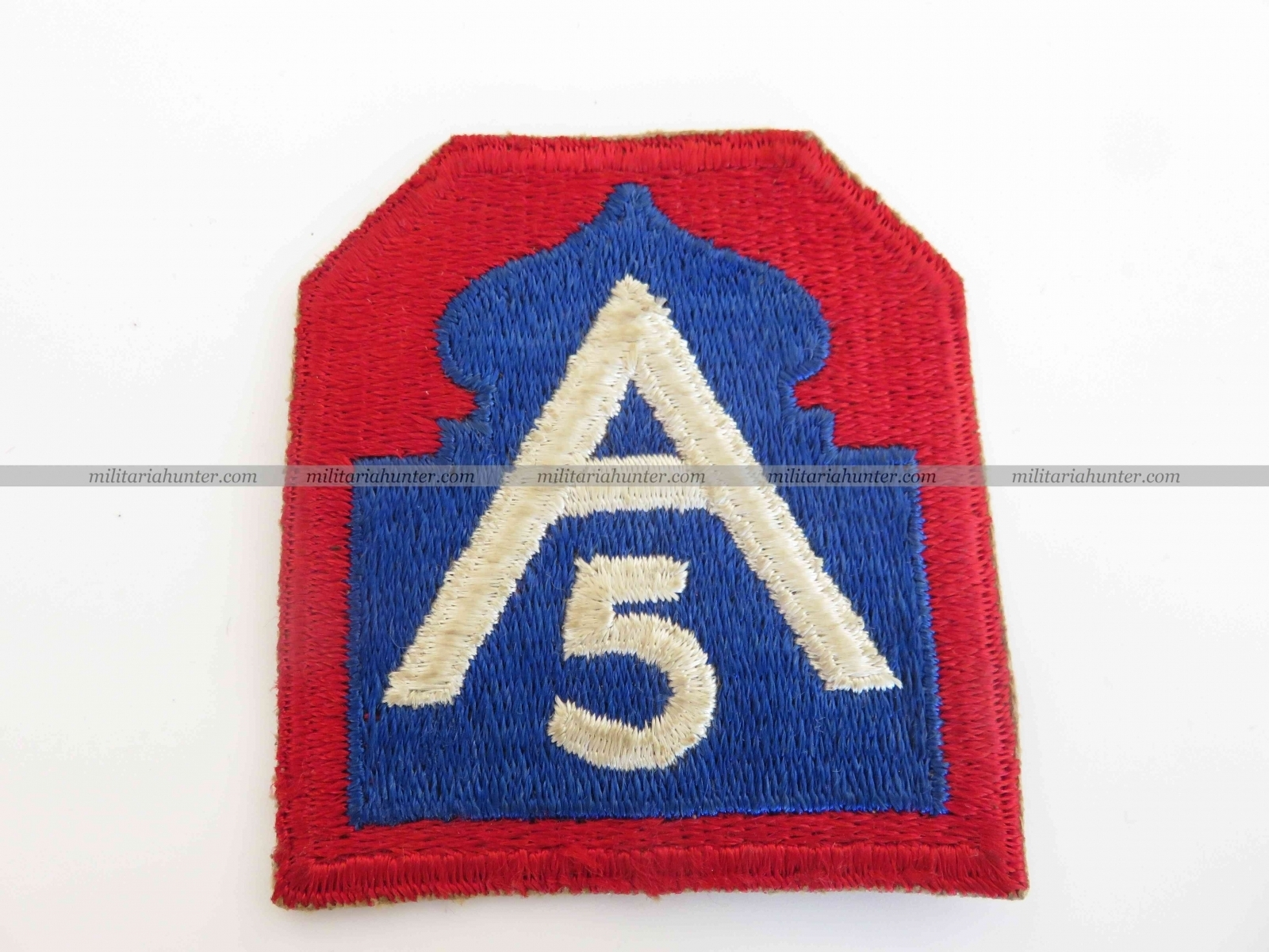 militaria : 5th Army patch - post war made