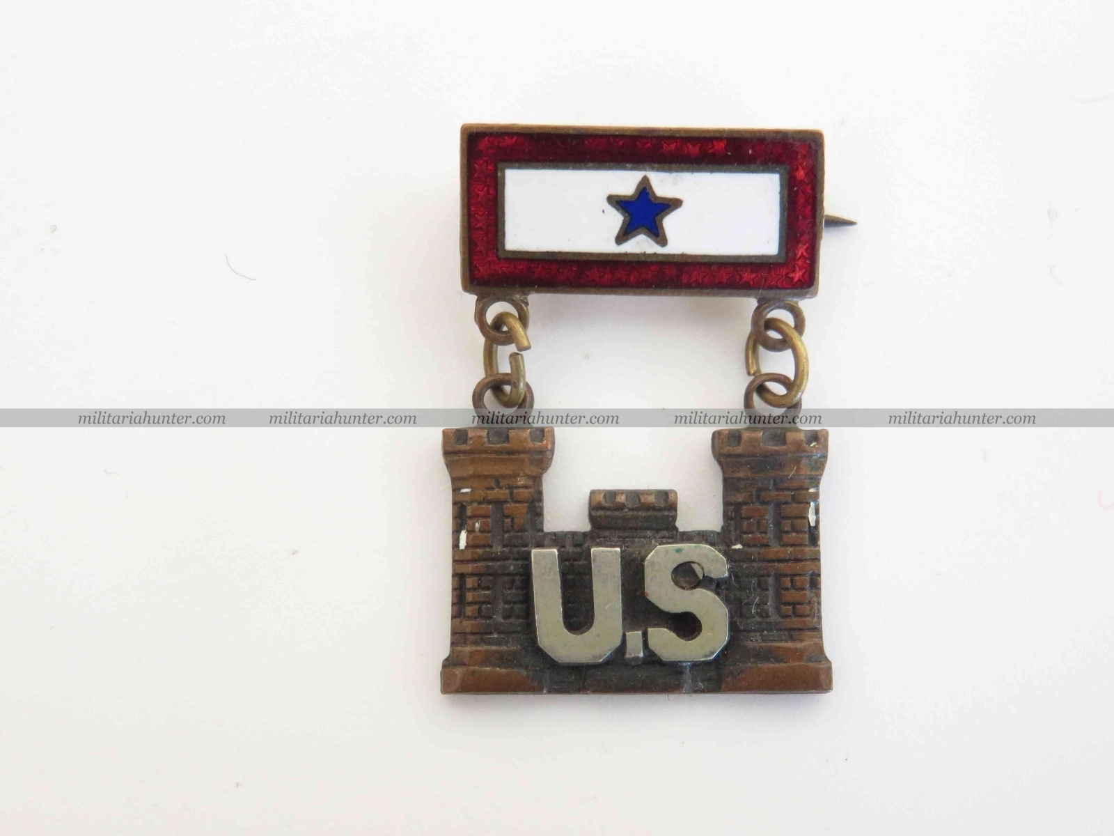 militaria : WW1 WW2 original Son in Service Engineers badge