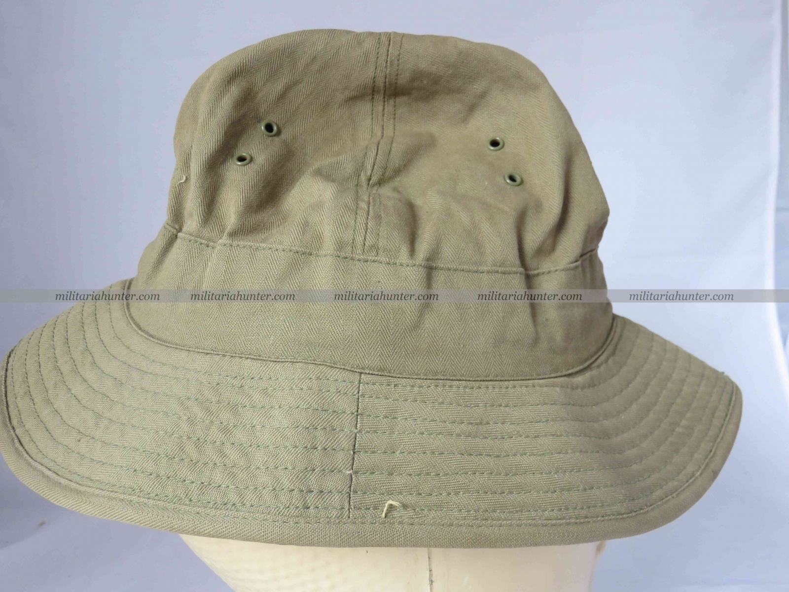 militaria : Us ww2 HBT Boonie Hat / Jungle Hat with laundry number