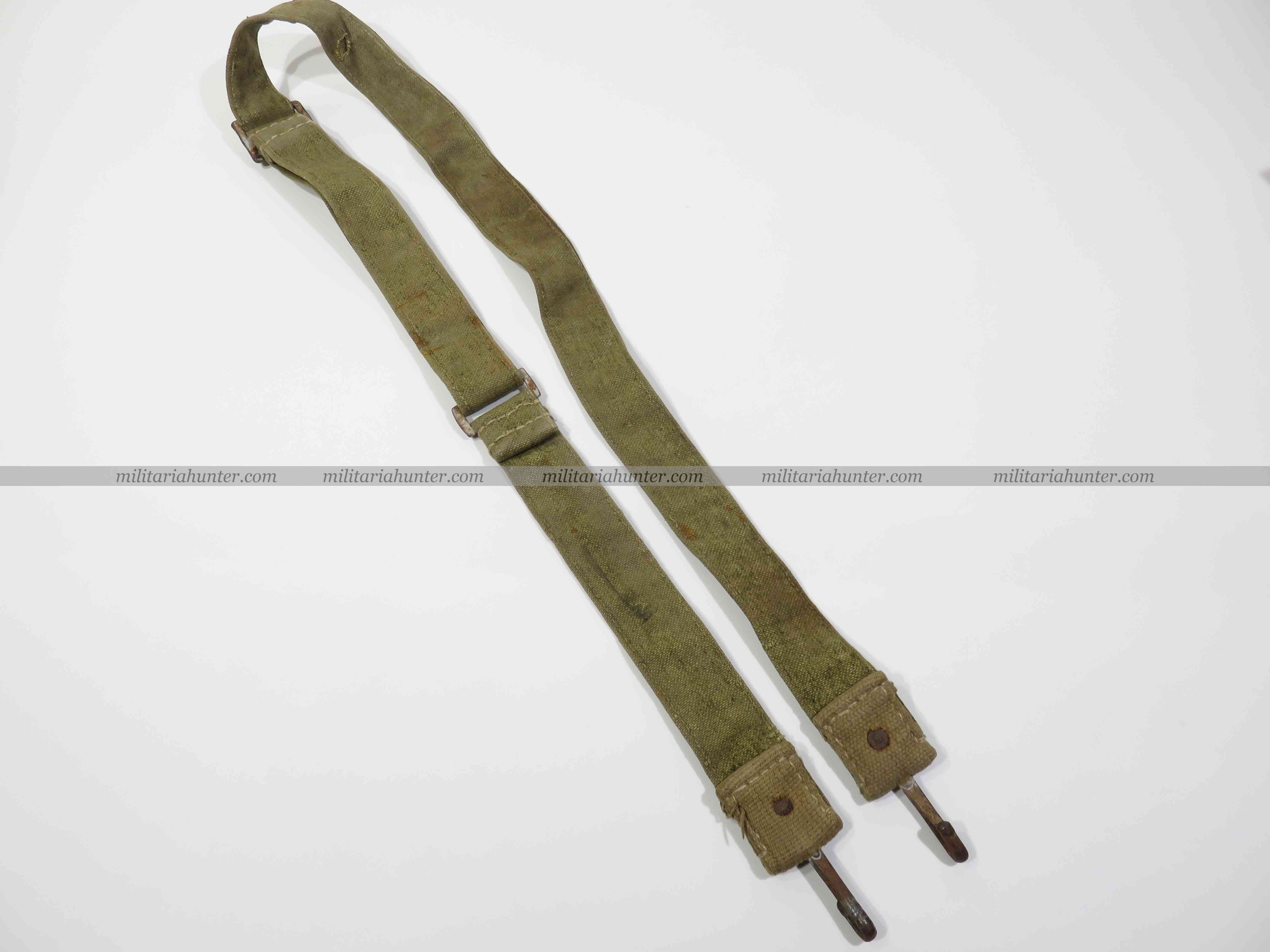 militaria : ww2 german tropical bread bag strap - sangle de sac à pain - Brotbeutel Riemen