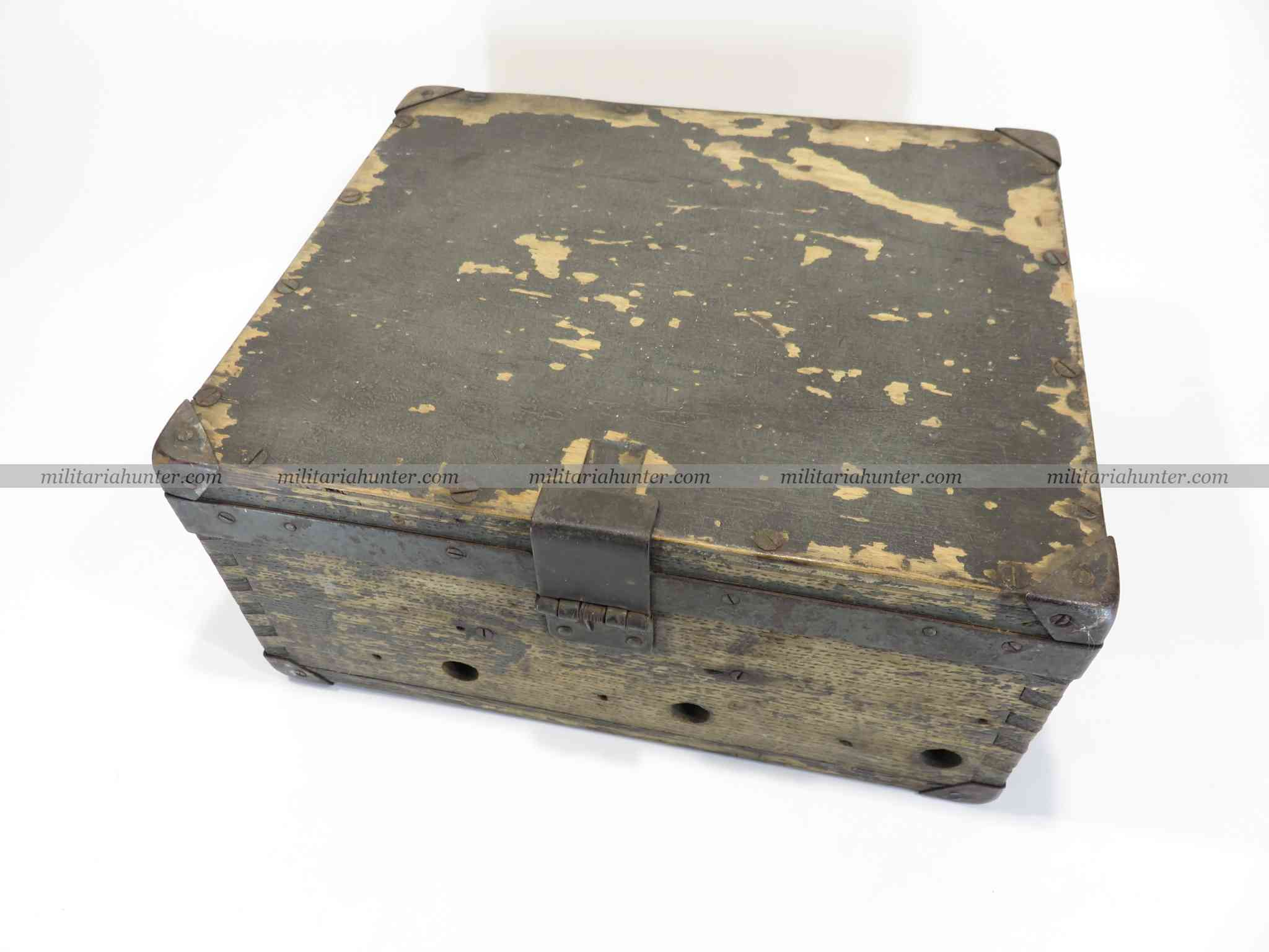 militaria : ww1 german L. Blink 17 projector battery box - boîte à batteries projecteur