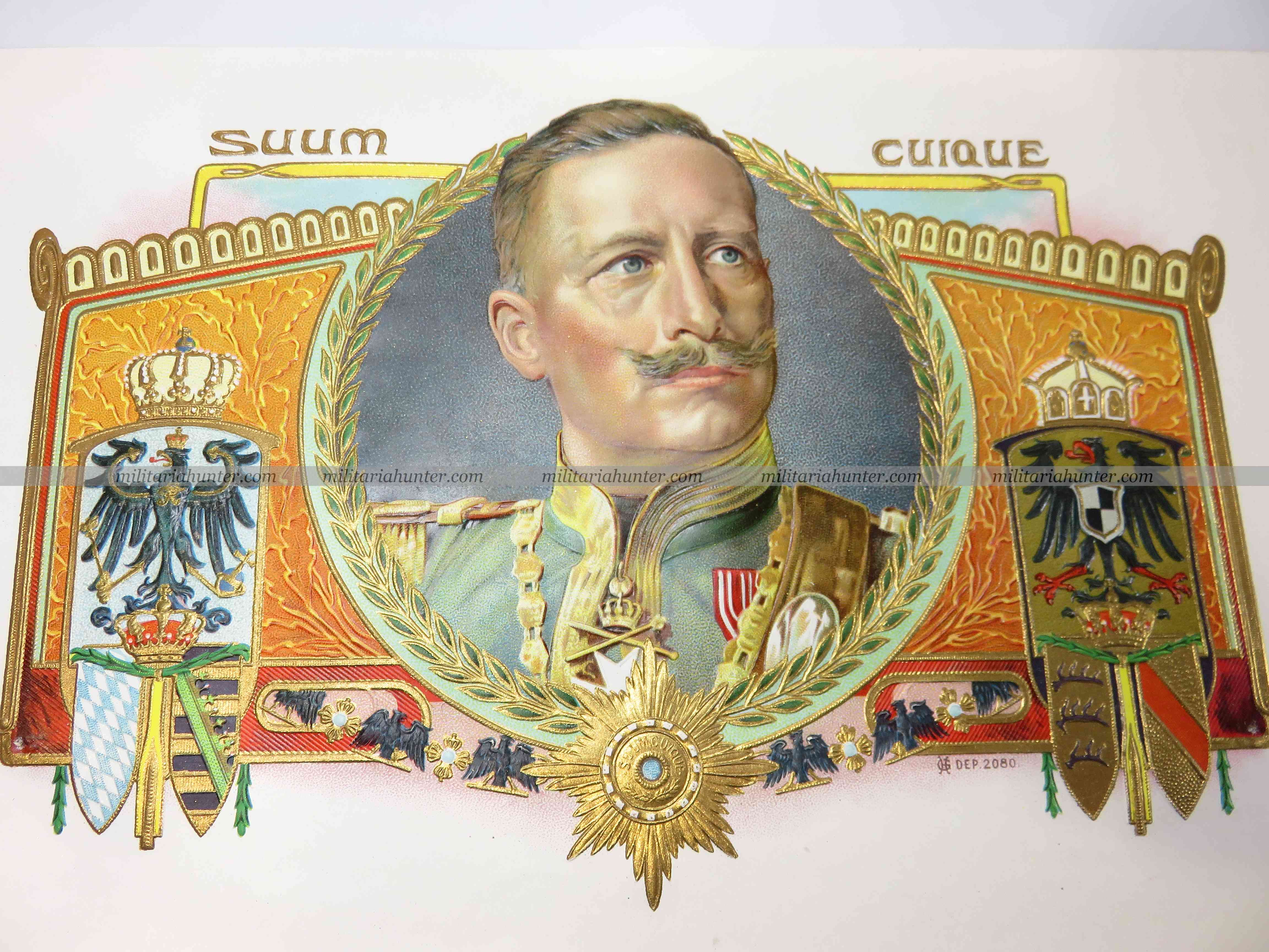 militaria : Etiquette de boîte à cigares allemande ww1 german cigars box labels