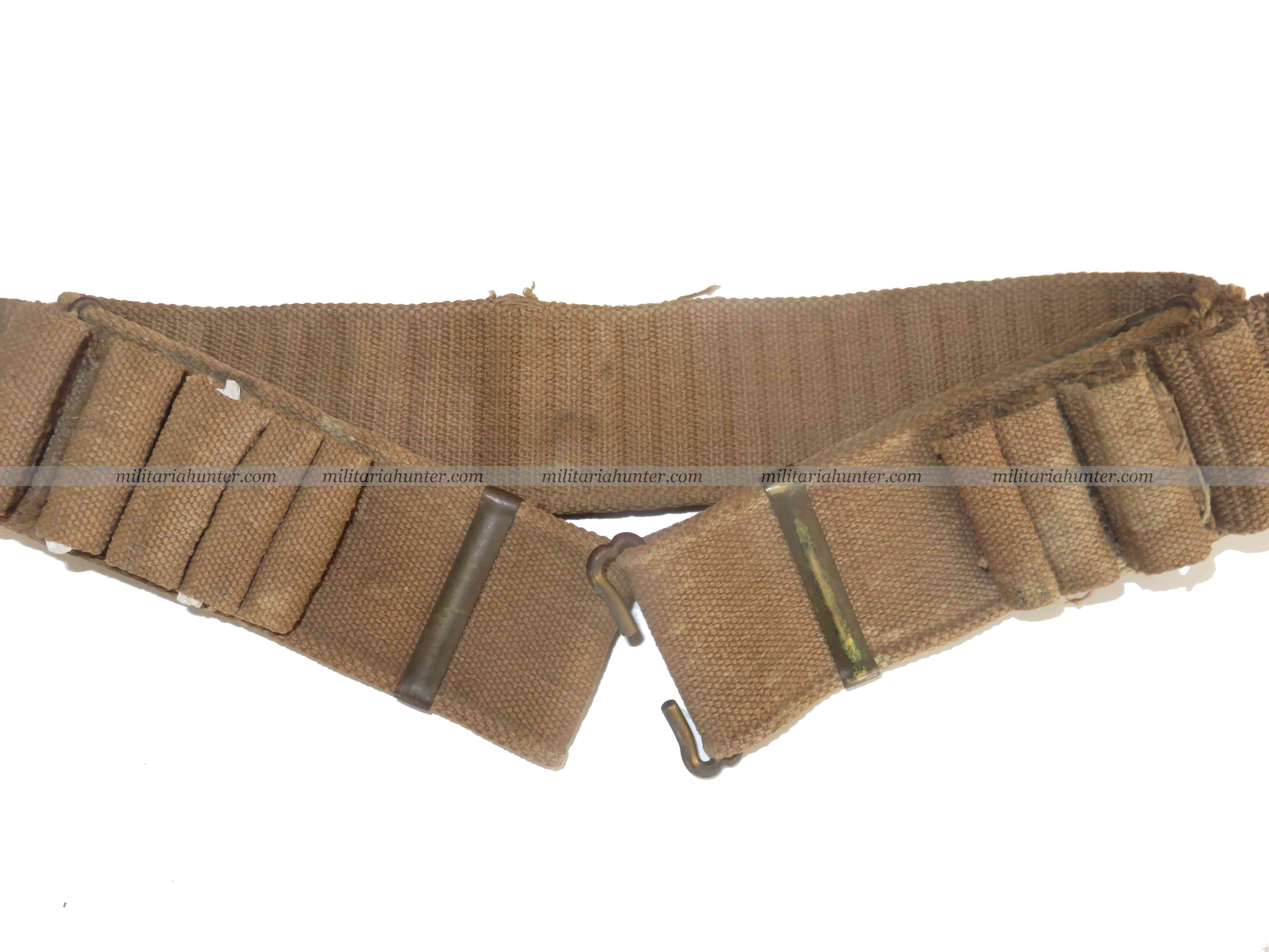 militaria : US ww1 early Mills shotgun ammunition belt